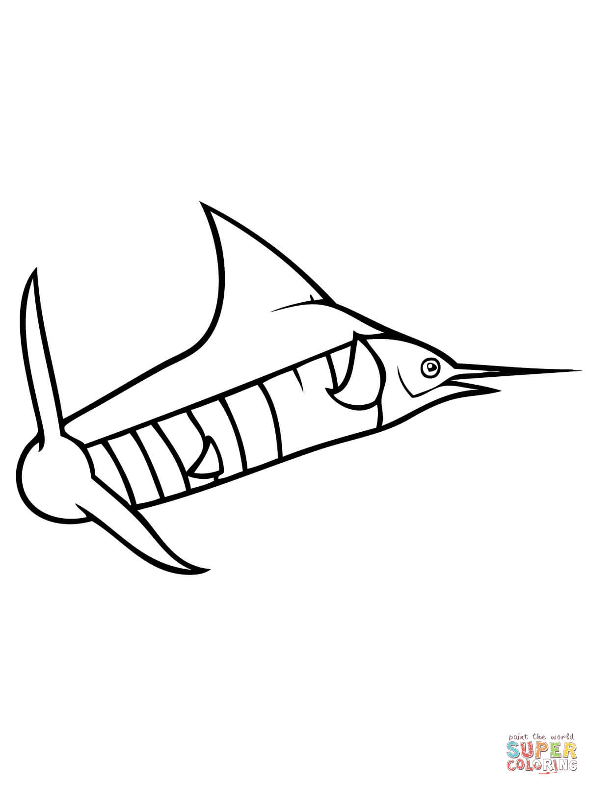 Blue Marlin Drawings ClipArt