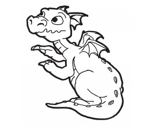 top 10 printable chinese dragon coloring pages - Baby Chinese Dragon Coloring Pages