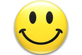 Why are happy faces yellow?