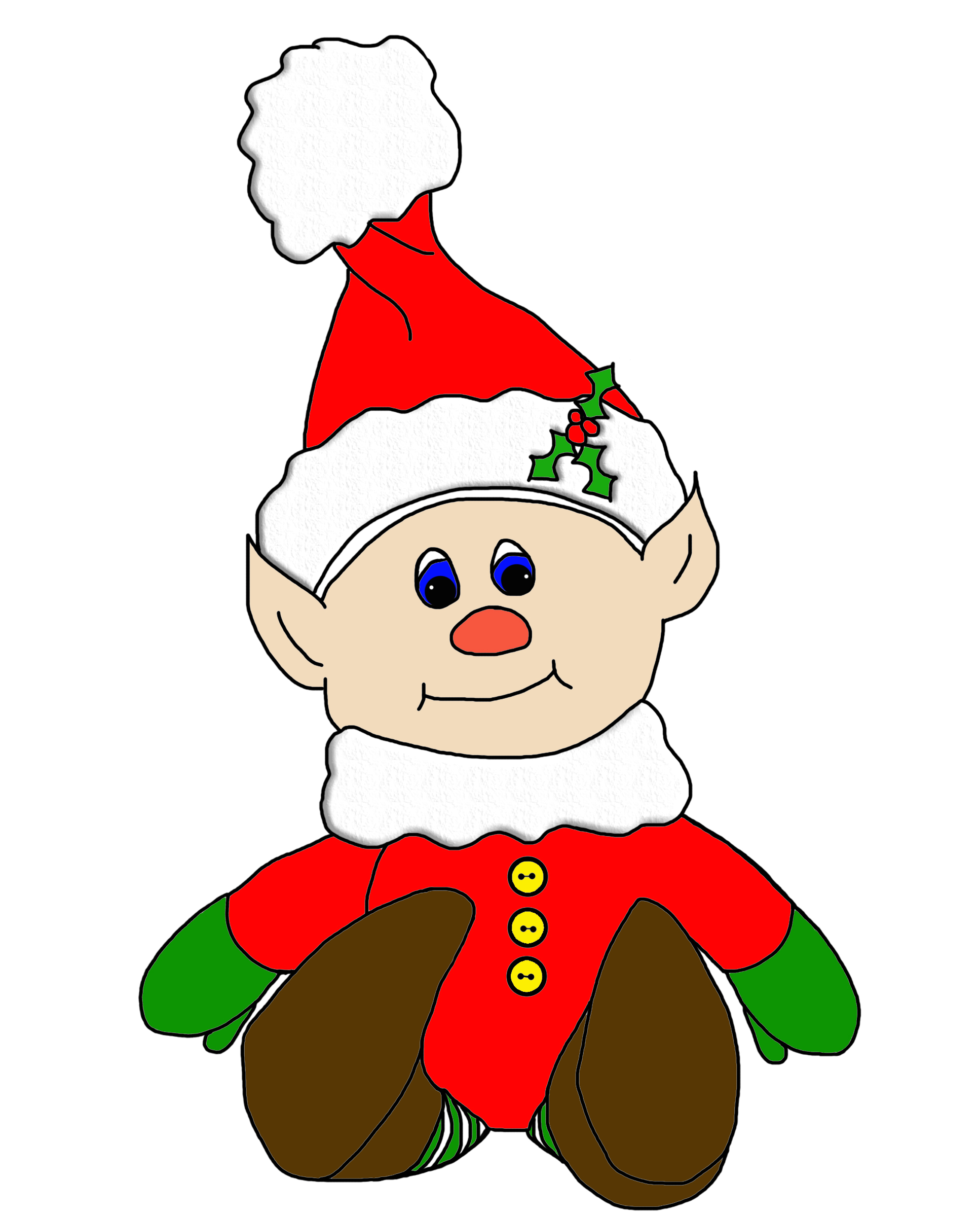 Picture Of Christmas Elf - ClipArt Best