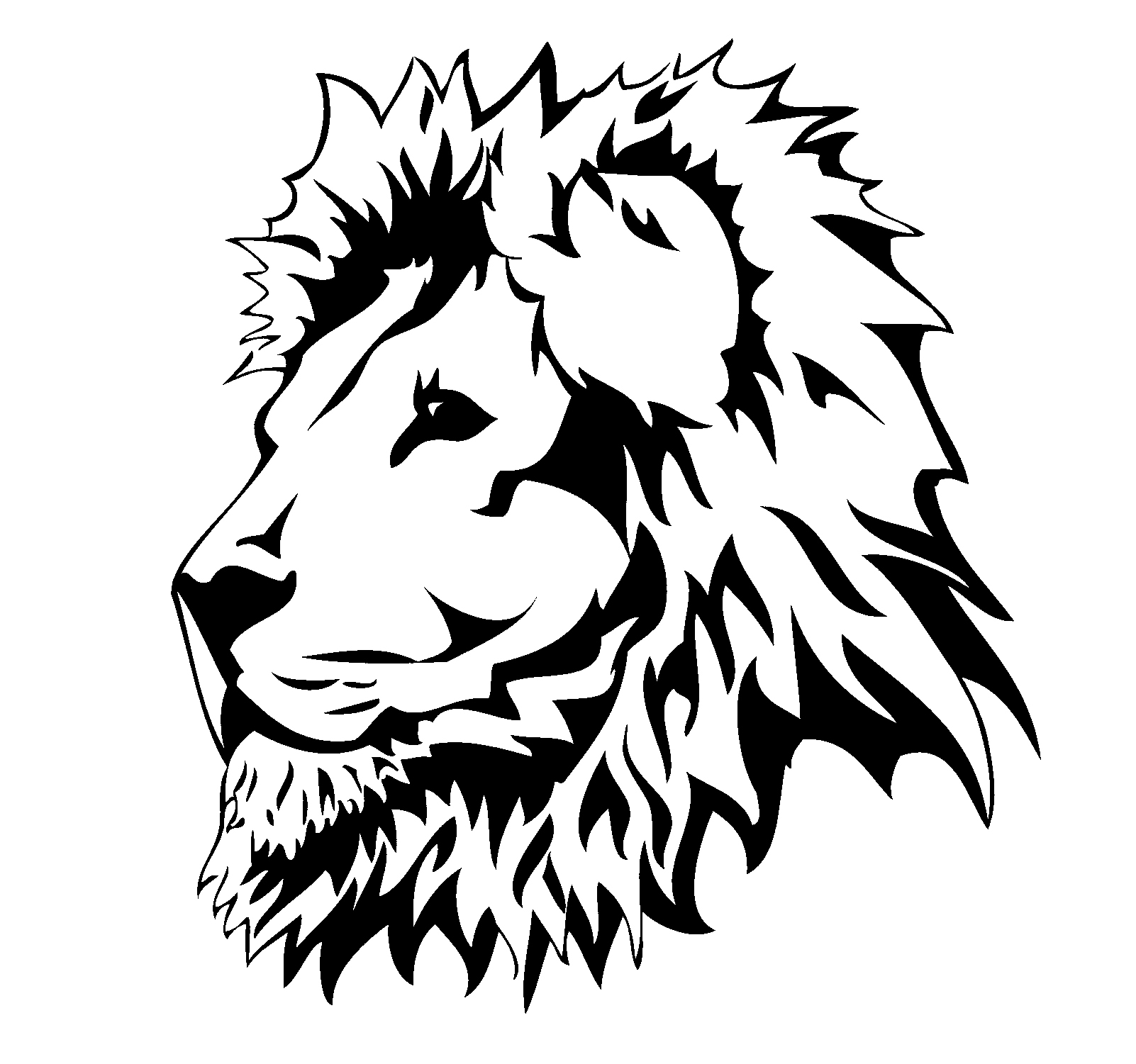 Drawings Of Lions Heads Clipart Best