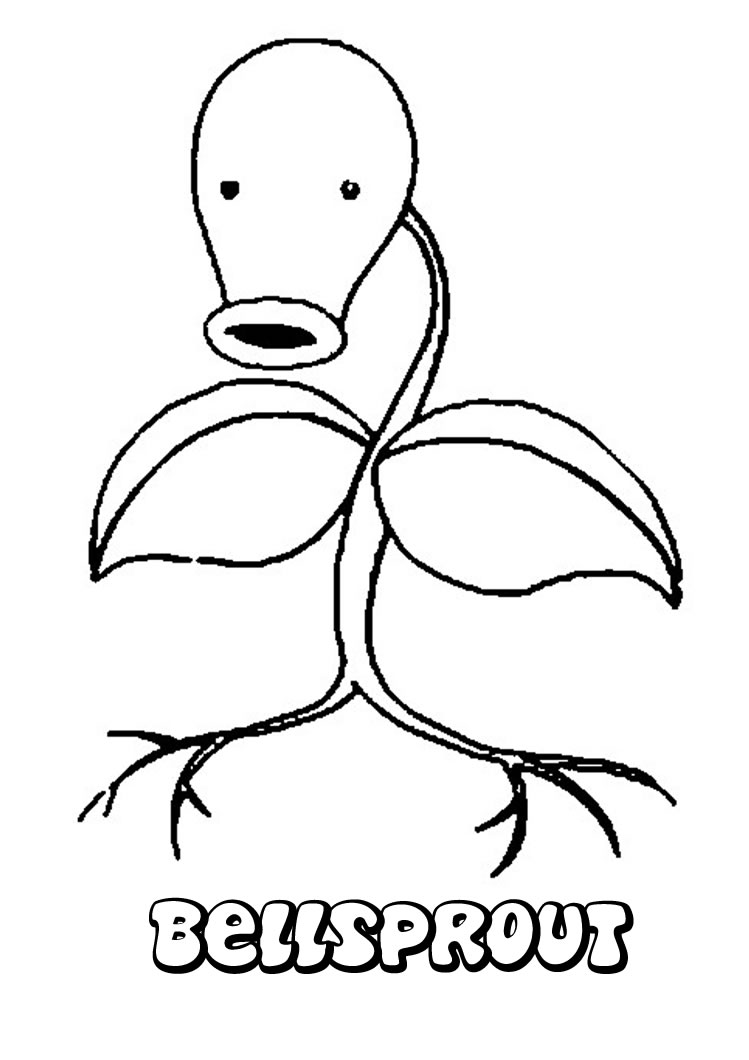 Grass Pokemon Coloring Pages Bellsprout Online And Printable