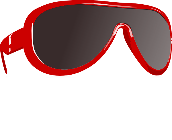 Red Sunglasses clip art - vector clip art online, royalty free ...