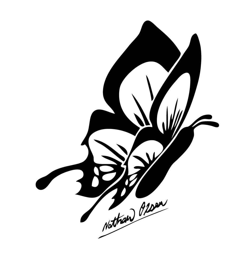 Tribal Butterflies Drawings ClipArt Best