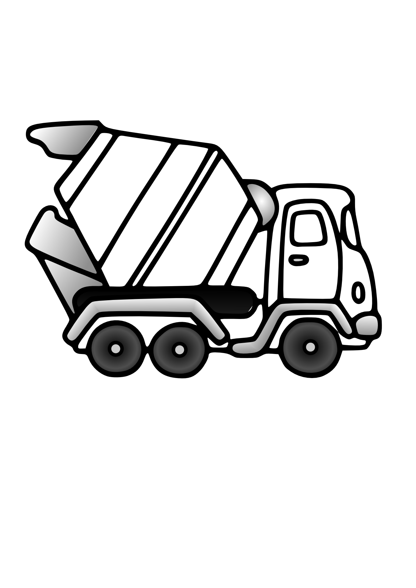 Cement Truck Clip Art Black And White. Truck. Download Free Image ...