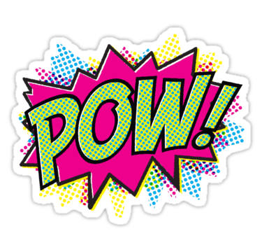 "Pow"" Stickers by JacksonSam 