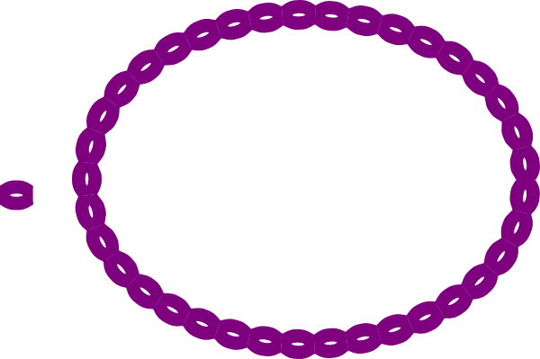 Purple Oval Rope Border clip art - vector clip art online, royalty ...