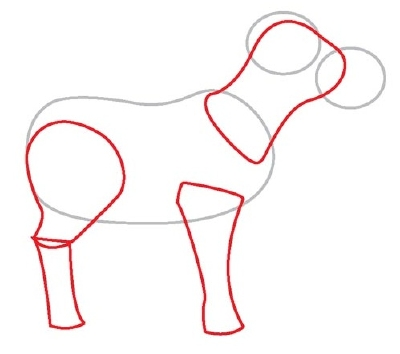 how to draw a 3d cow