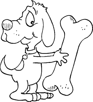 Coloring dog bones clipart best for Coloring pages of dog bones