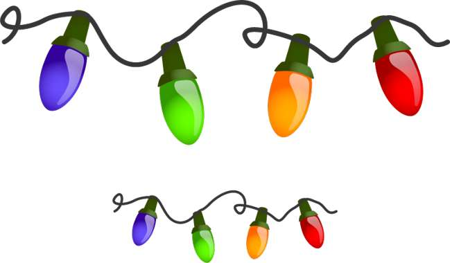 Christmas tree lights clipart | Free Reference Images