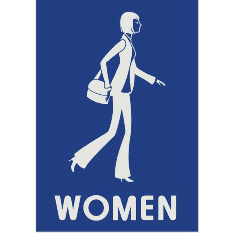 Bathroom signs for women clipart best for Women s bathroom sign