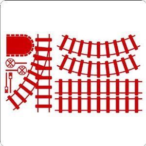 amazon com train track set wall decals stickers graphics train track clipart border train track clipart images