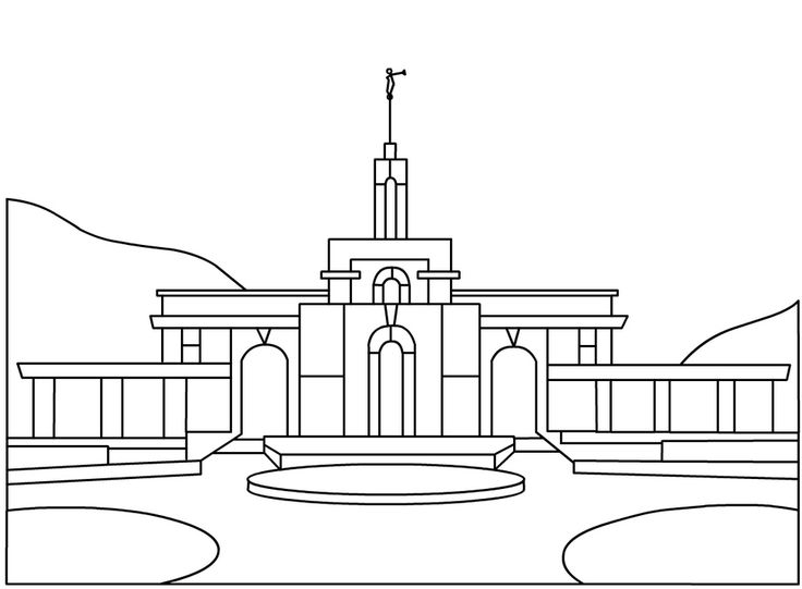 Lds Temple Coloring Pages Salt Lake Temple Coloring Page