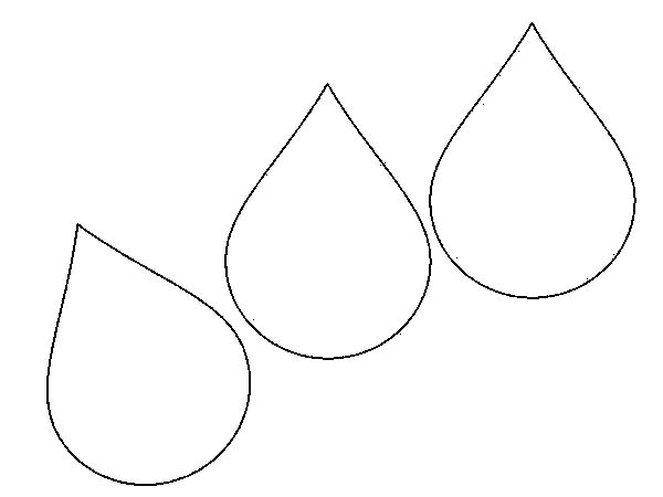 Raindrop Coloring Patterns on Coloring Page Of An Umbrella With Raindrops