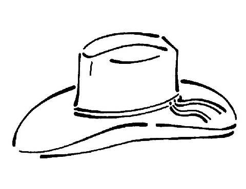 Cowboy Hat Coloring Sheet
