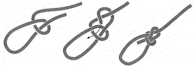 bowline knot diagram