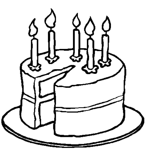 Birthday Cake Outline - ClipArt Best