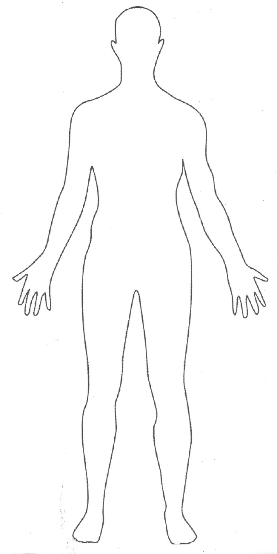 person outline template .