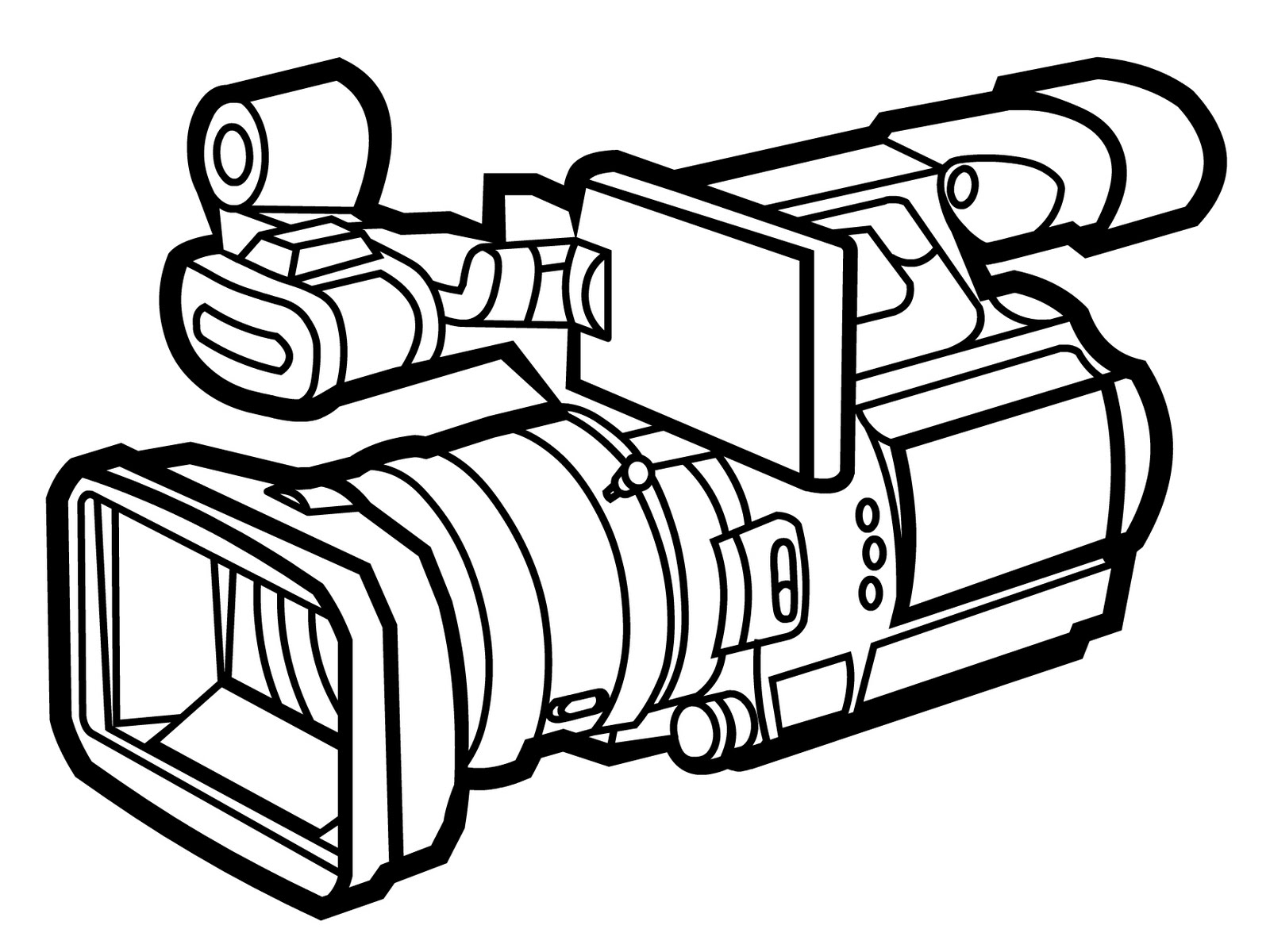 Line Drawing Camera : Camera line art clipart best
