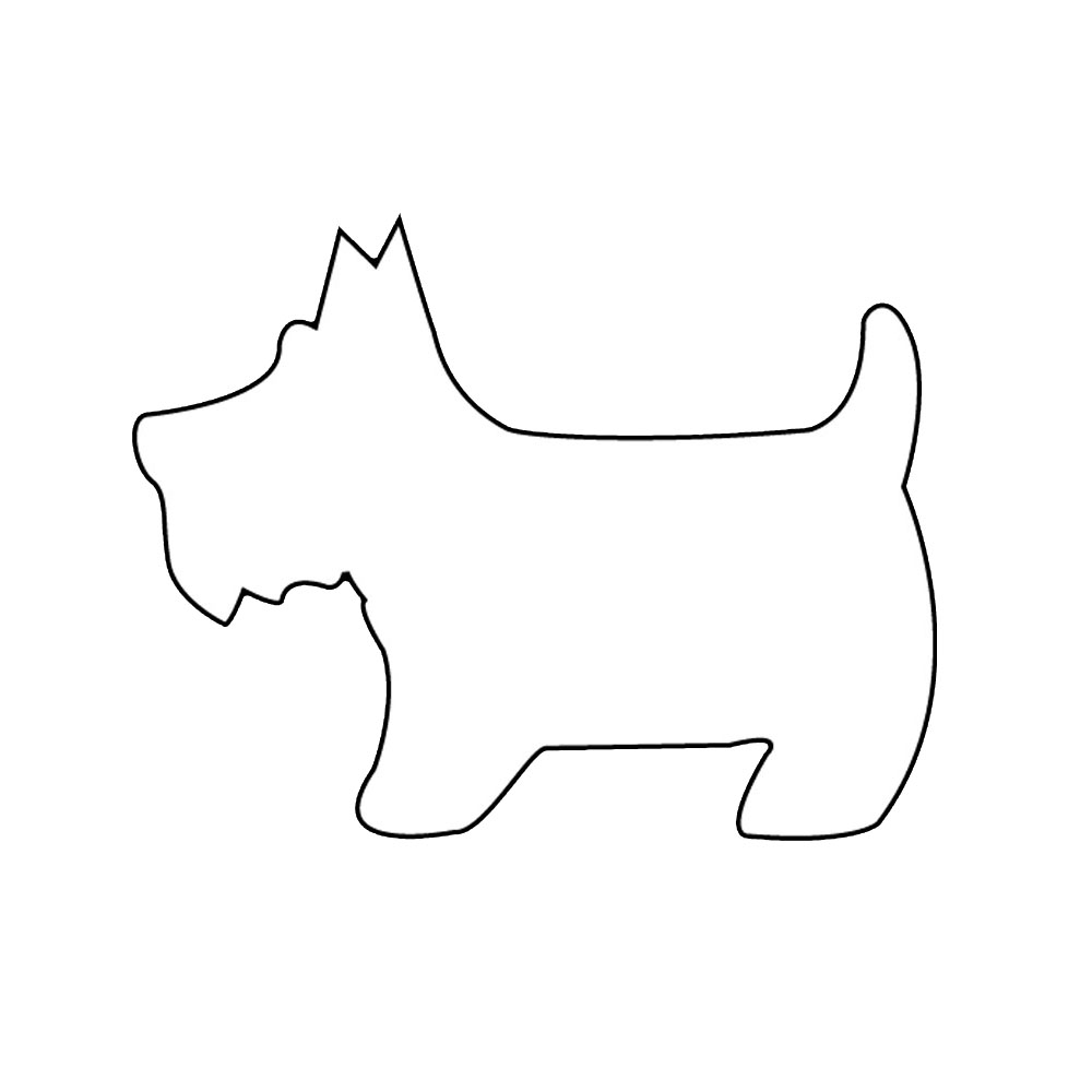 Easy Dogs To Trace Coloring Pages