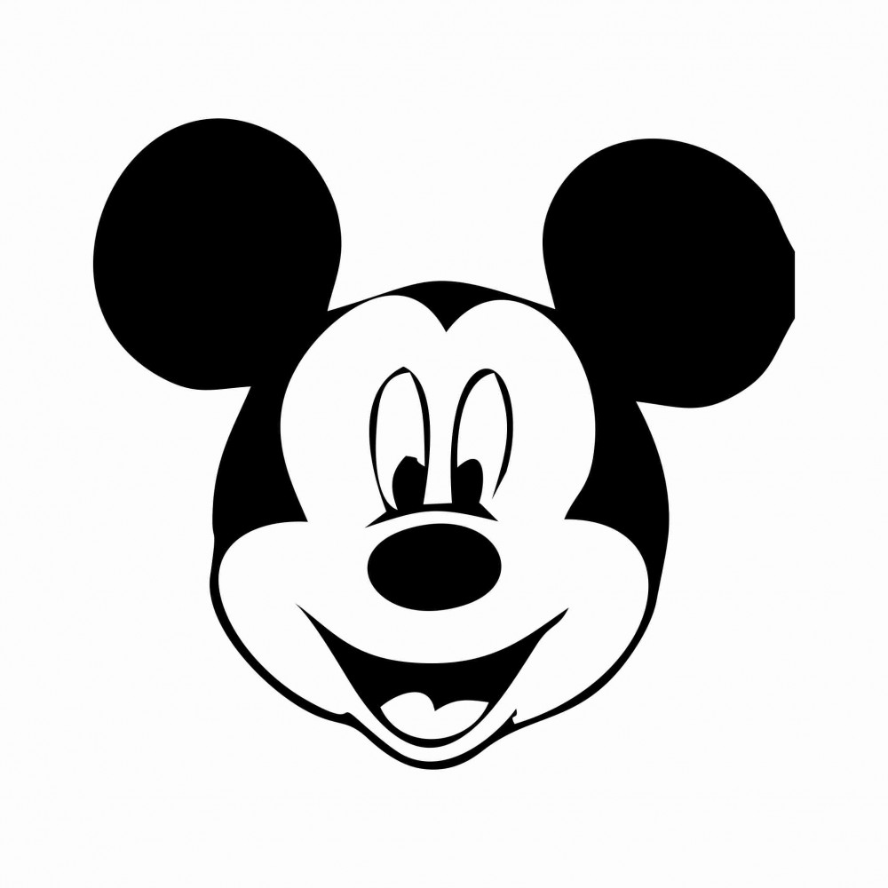 Mickey Mouse Face Template - ClipArt Best