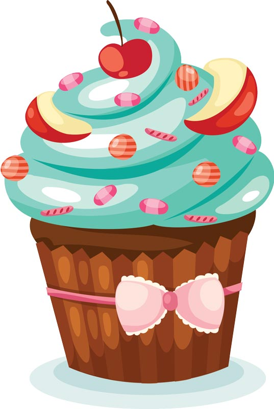 Delicious Cake Clipart : Sprinkle Cupcake Vector - ClipArt Best