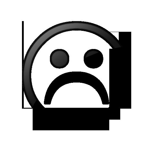 Sad Face Clip Art Black