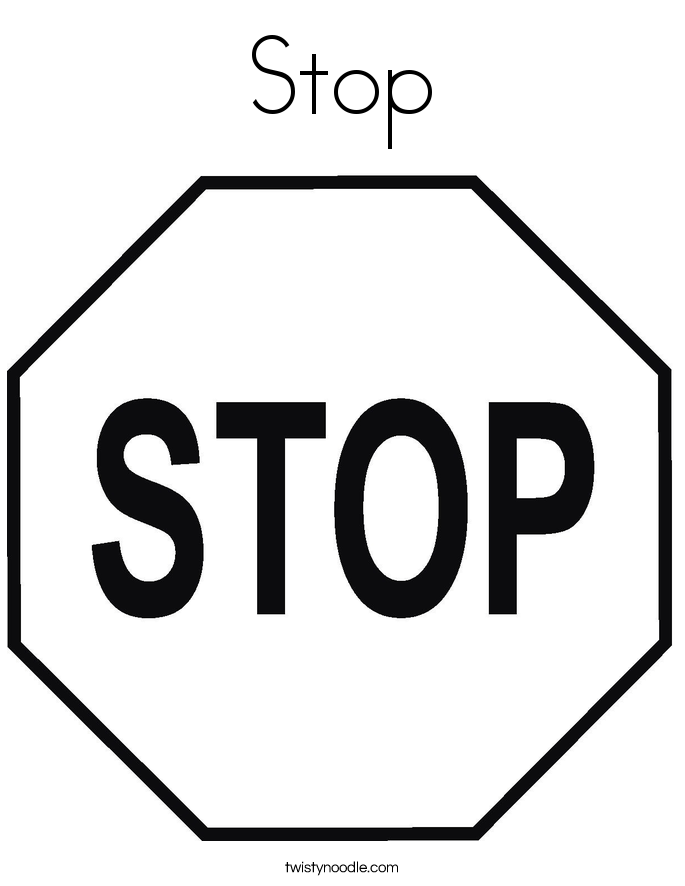 Stop Sign Template Printable - AZ Coloring Pages