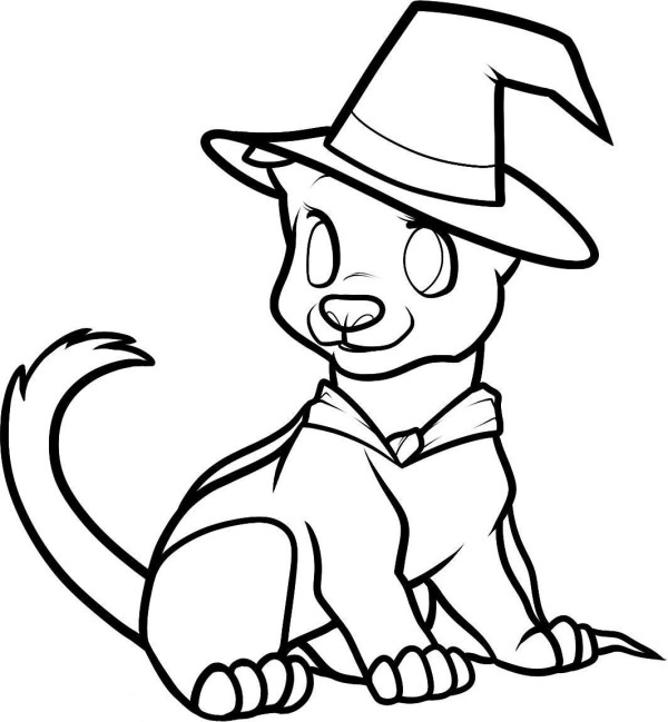 cute easy halloween coloring pages - photo#13