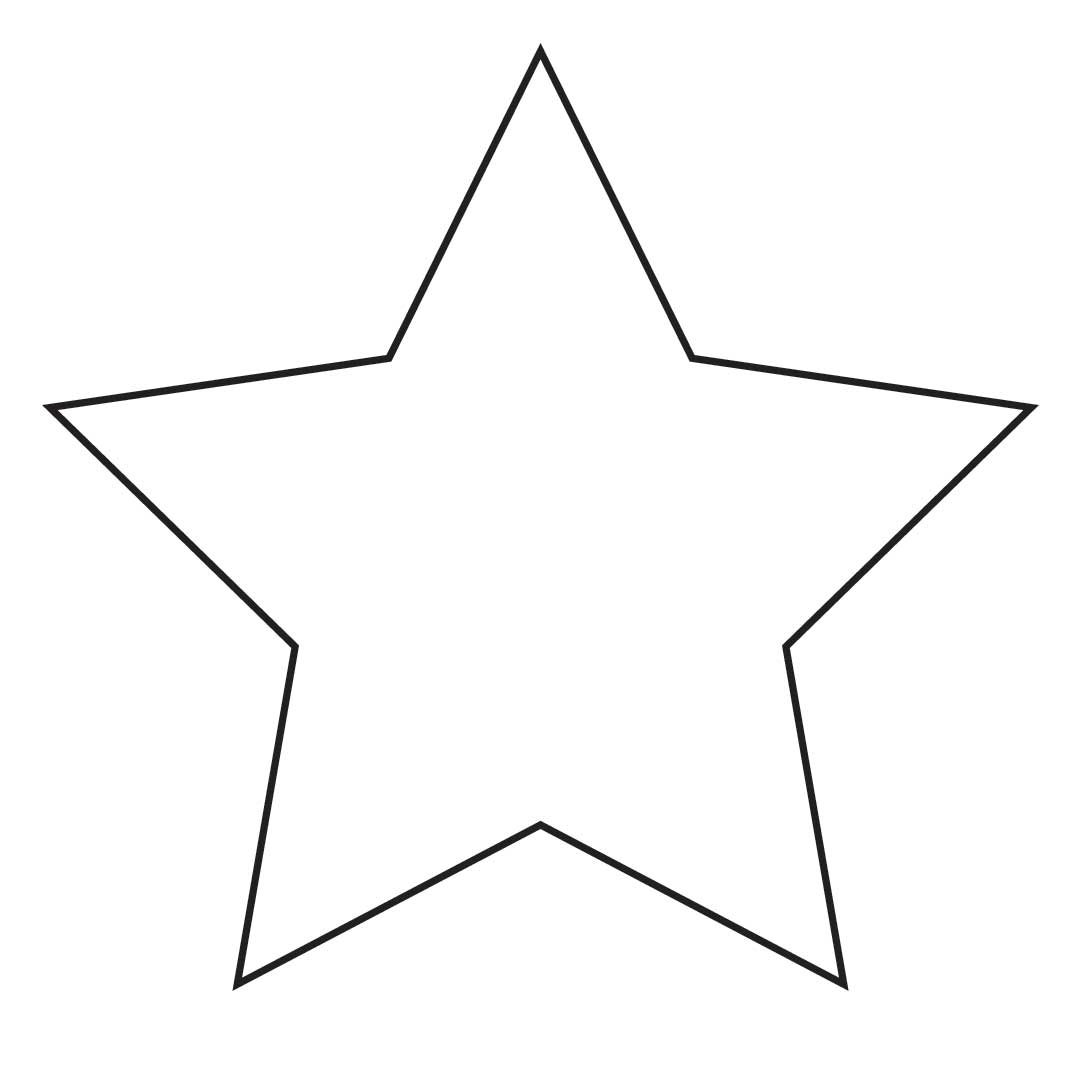 star stencil printable clipart best