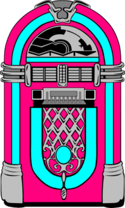 Pink And Blue Jukebox Clip Art - vector clip art ...
