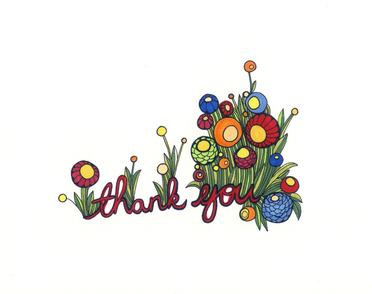 Thank You Flowers Clip Art Clipart Best