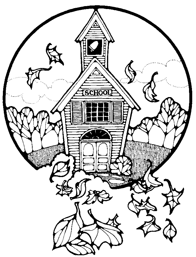 free black and white school house clipart - photo #6