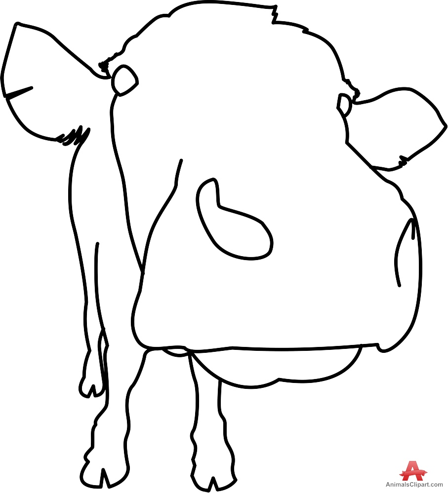 Cow Face Outline - ClipArt Best