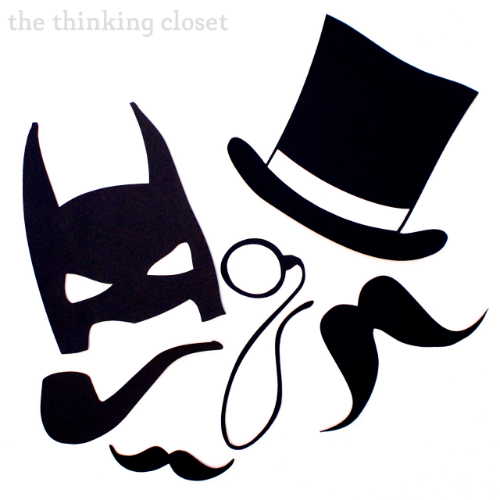 Diy photo booth props &; silhouette giveaway! the thinking closet