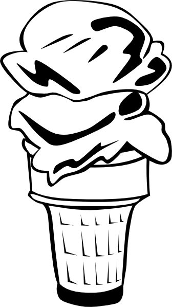 ice cream scoop clipart black and white - photo #29