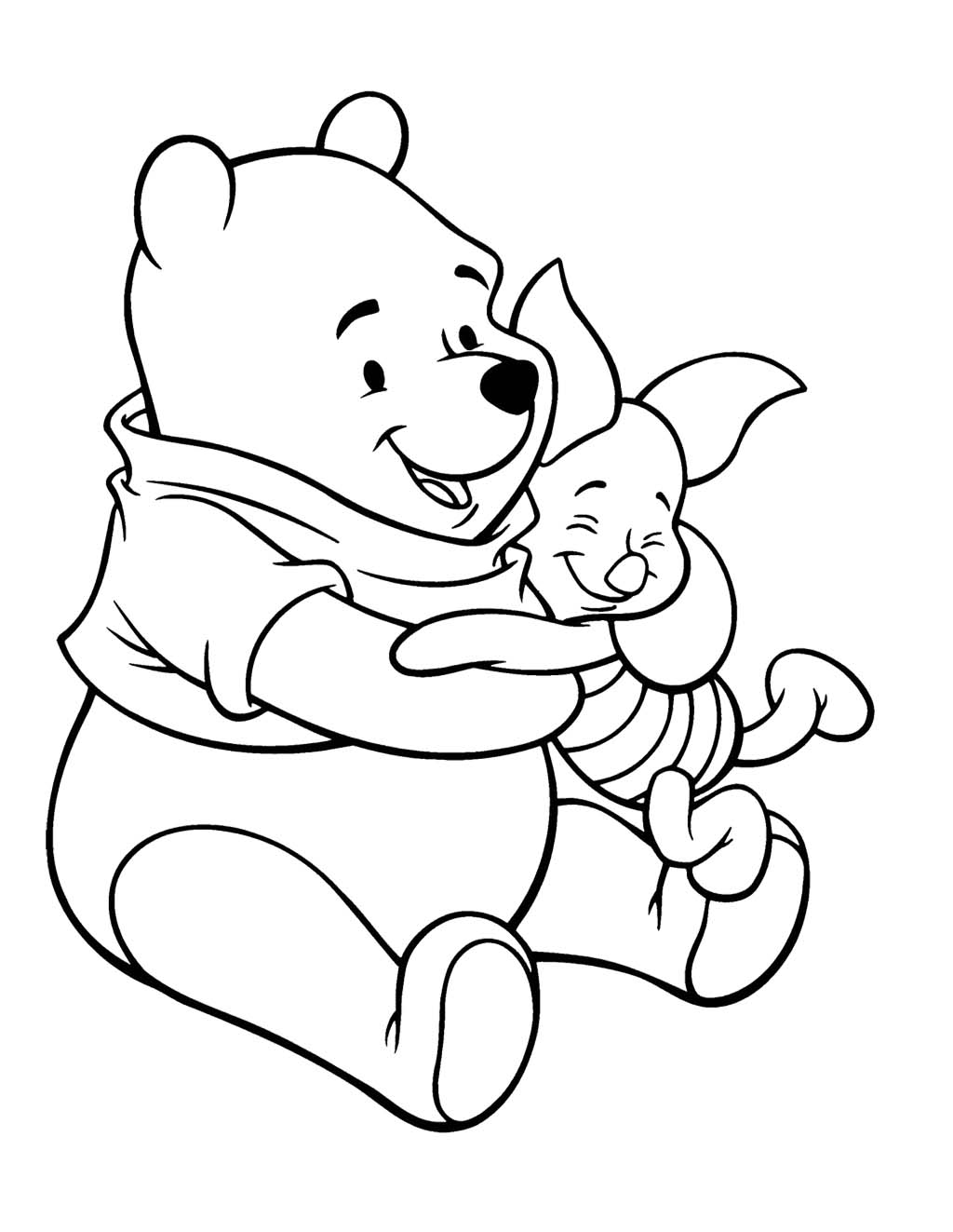 Piglett Winne The Pooh Clipart Best Winnie The Pooh And Piglet Coloring Pages