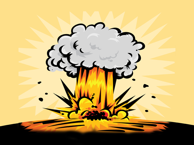 Nuclear Explosion Cartoon - More information