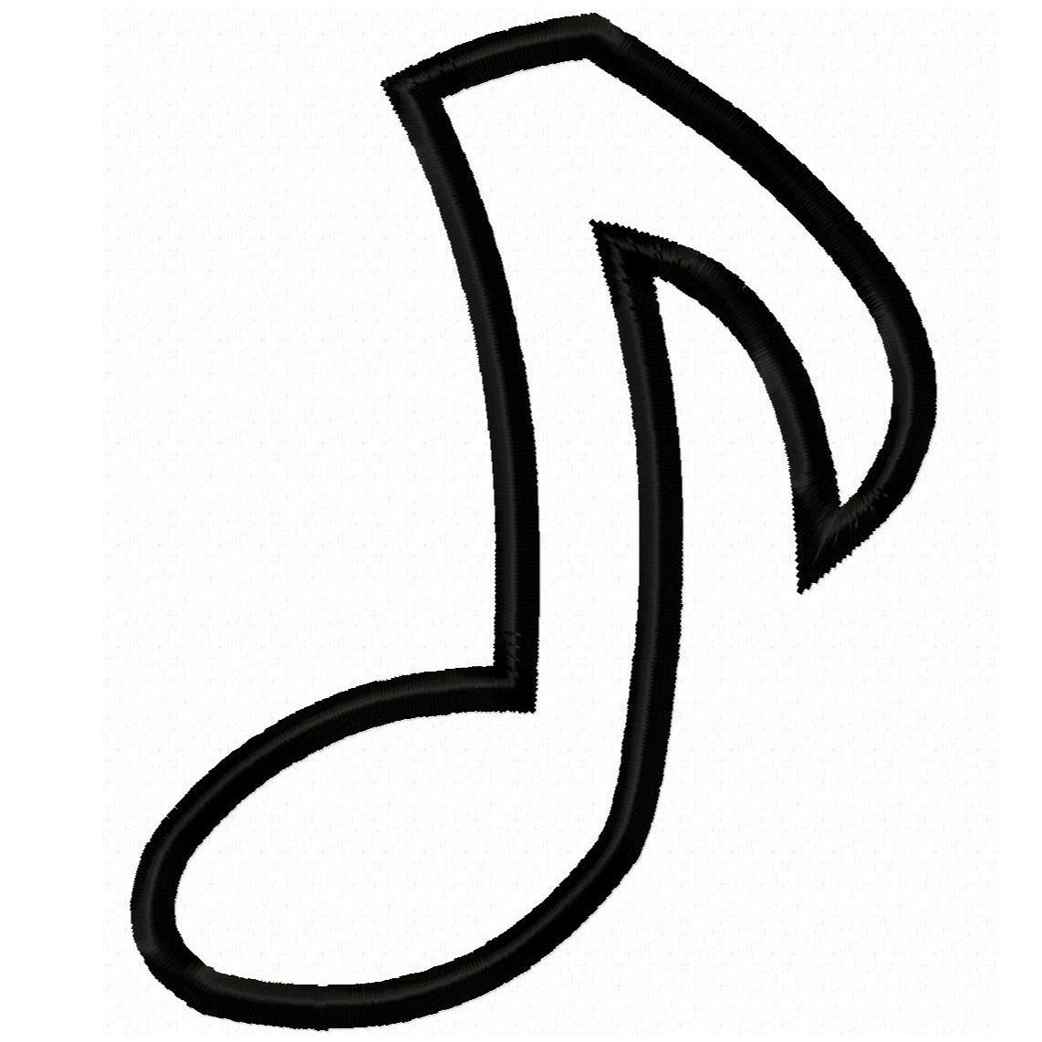 Stencil Musical Notes Printable - ClipArt Best