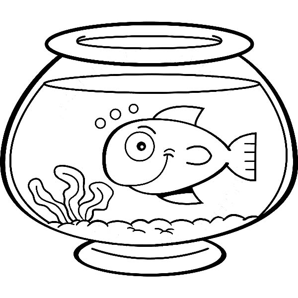 empty fish bowl coloring page clipart best
