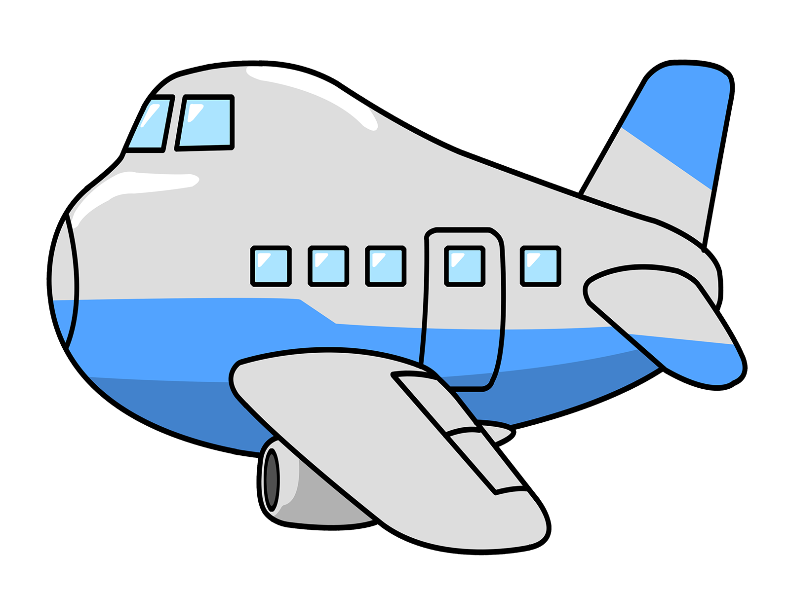 Plane with banner clipart free