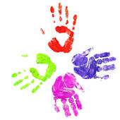 Handprint Heart Clipart Handprint Borde...
