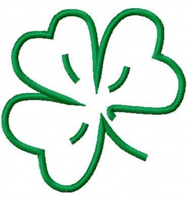 Shamrock Outline Embroidery Machine Design 10356 By