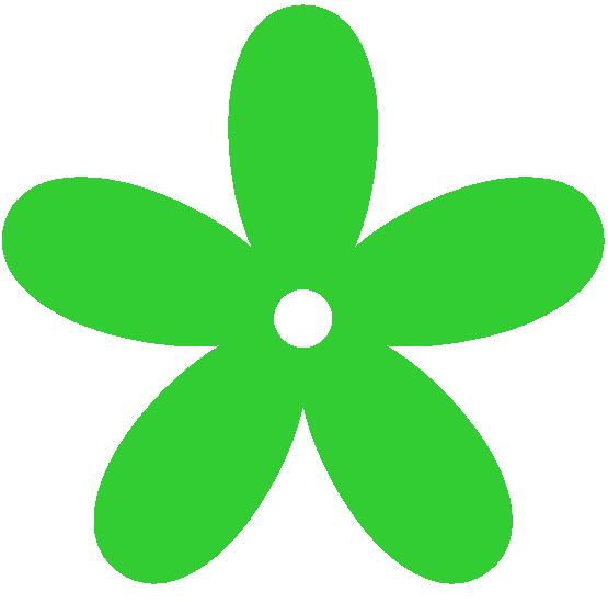 Green Flower Clip Art - ClipArt Best