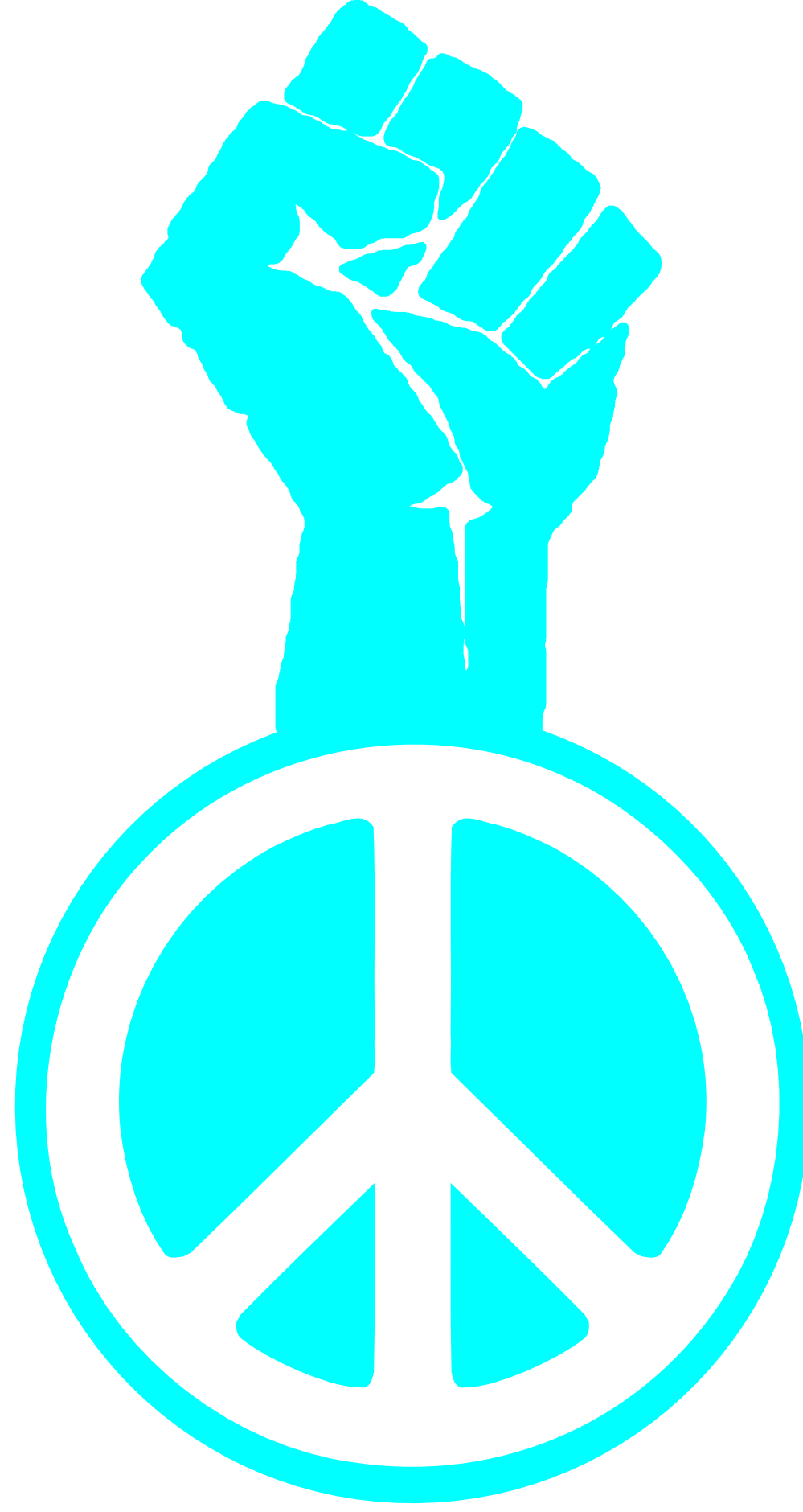 Fight the Power Occupy Wall Street Peace Fist Groovy Peace Symbol ...