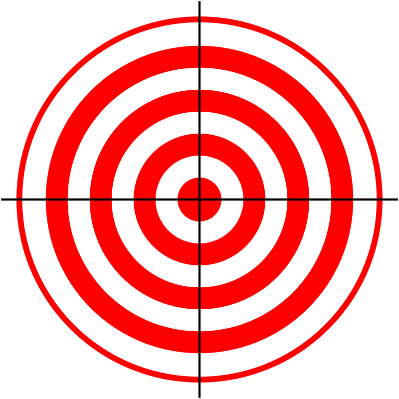graphic about Funny Printable Targets called Bullseye Objectives Printable - ClipArt Easiest