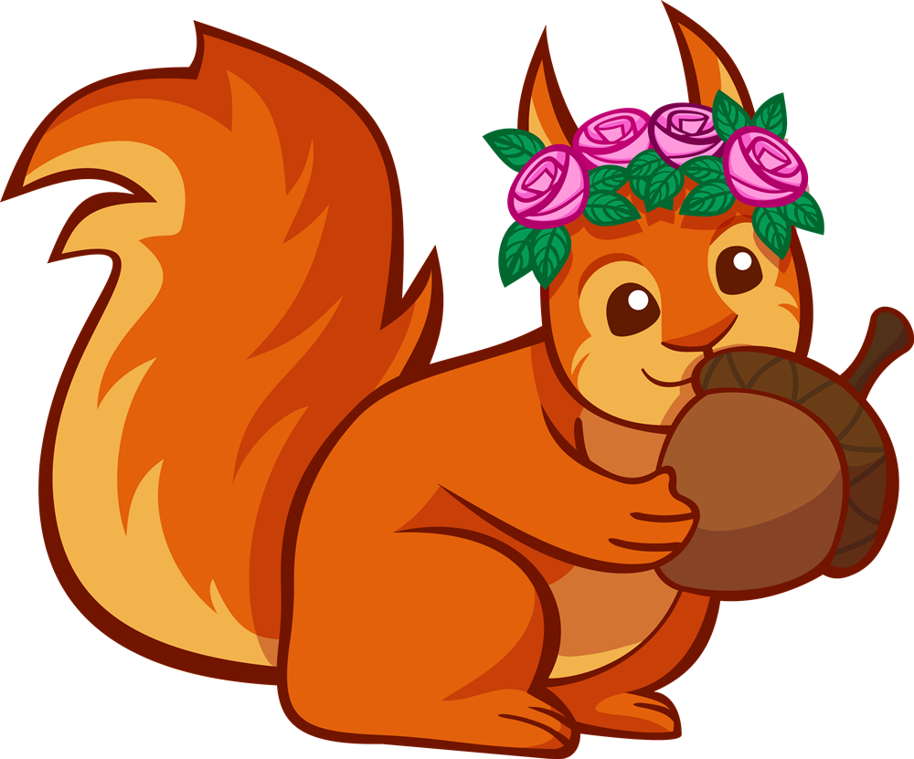 clip art cartoon squirrel - photo #31