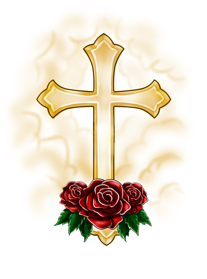 Pictures Of Crosses With Roses