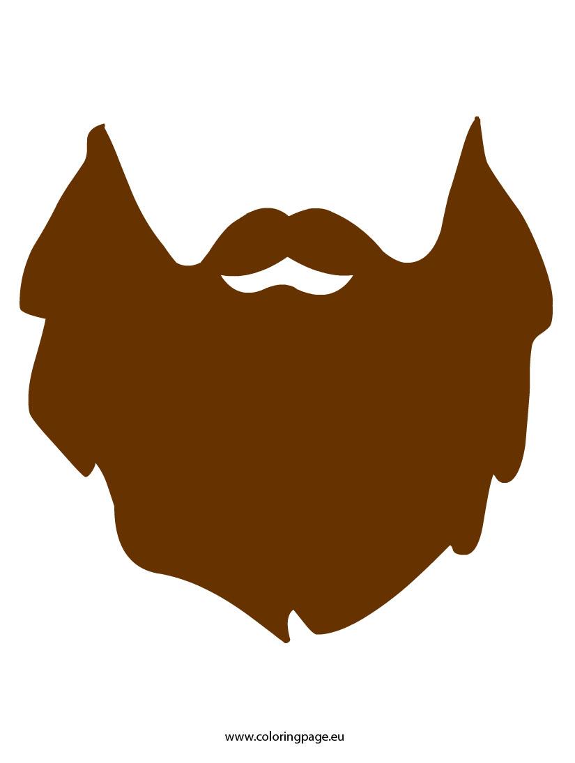 Amazing image for beard template printable