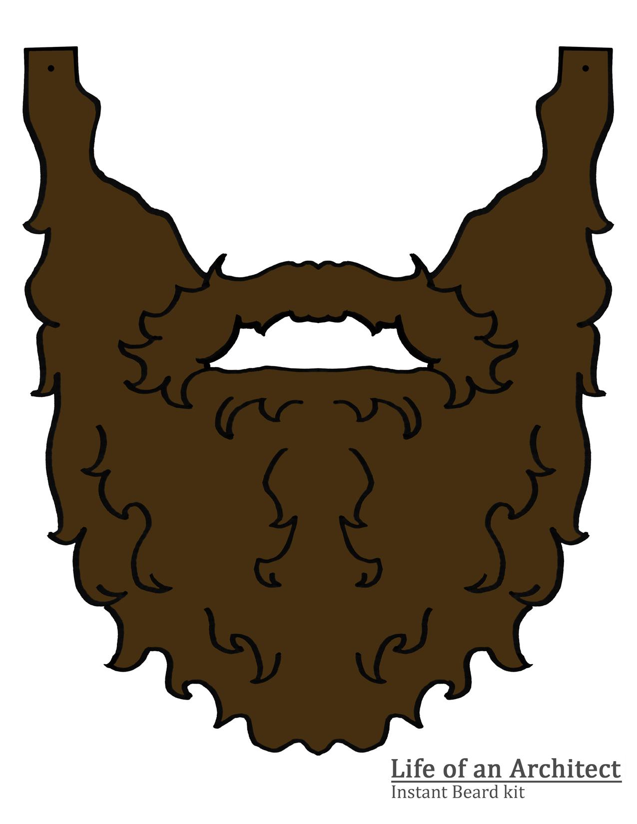 #34530153 браун усы и борода, изолированных